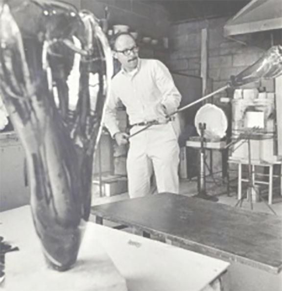 Glass artist Harvey Littleton